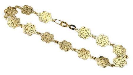 -25% Złota bransoletka 585 CB016 - Jubiler Goldrun CHORZÓW