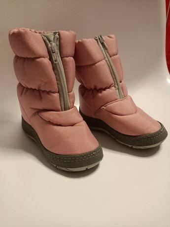 Buty zimowe śniegowce kozaki różowe