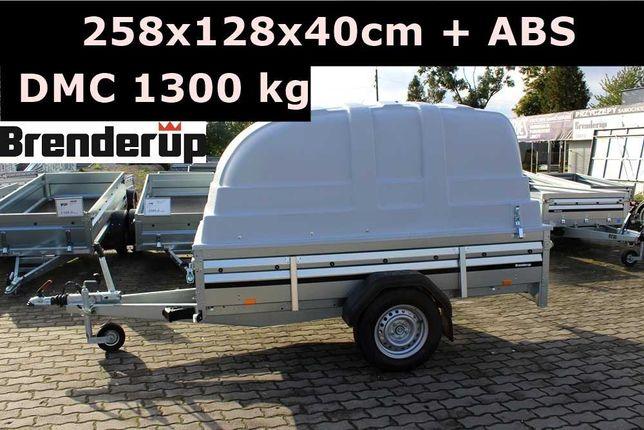 Przyczepa z pokrywą ABS Brenderup 2260 hamulec najazdowy DMC 1300 kg