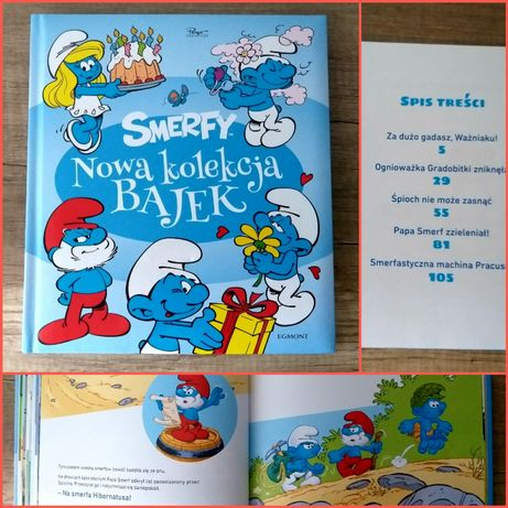 """""""Smerfy. Nowa kolekcja bajek"""", 127 str, stan bdb"""