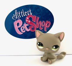 Littlest Pet Shop #467 szary kot syjamski LPS