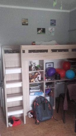 Łozko,szafa,biurko-piętrowka 90/220 materac gratis