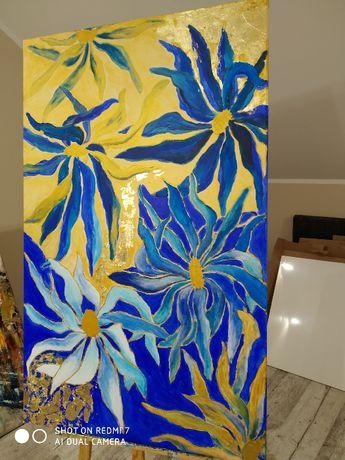 Obraz, duży ,nowoczesny- kwiaty.