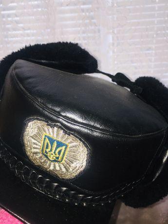 Зимняя шапка милицейская