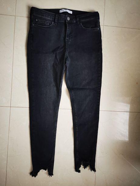 Spodnie damskie 40 L dziury szarpane