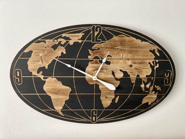 Compre a ótimo preço! Relógio de parede mapa-Mundo, 109x68cm, madeira