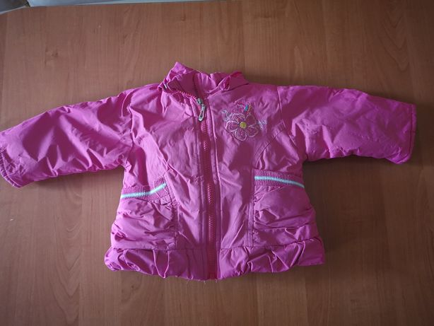 Ocieplana kurtka + spodnie rozmiar 74