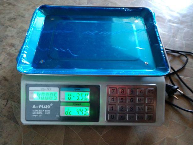 Весы торговые электронные 50кг a-plus