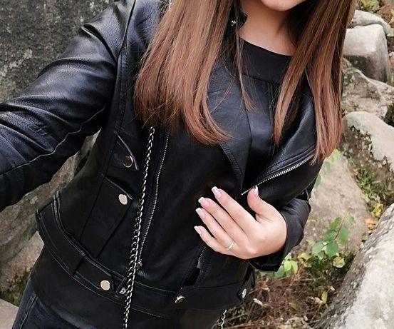 Куртка косуха кожзам женская