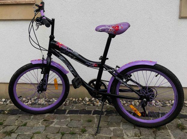 Rower fioletowy dla dziecka