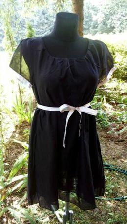 Czarna sukienka ciążowa nowa L