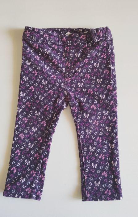 Spodnie sztruksowe H&M 86 kokardki Łask - image 1