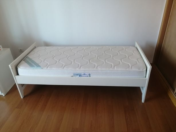 Cama IKEA solteiro + colchão