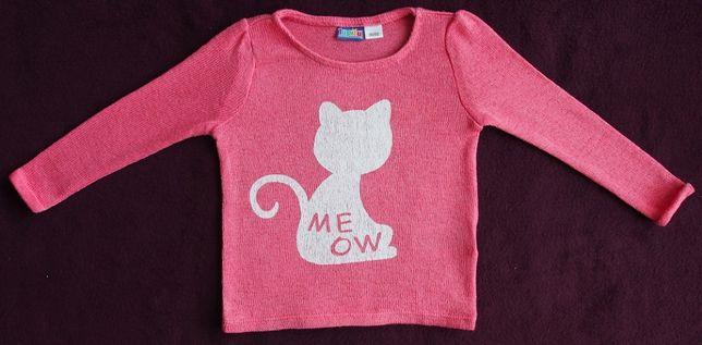 Sweterek w kolorze łososiowym - kotek rozm. 86/92