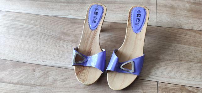 Ślicznie buty damskie, letnie, drewniane