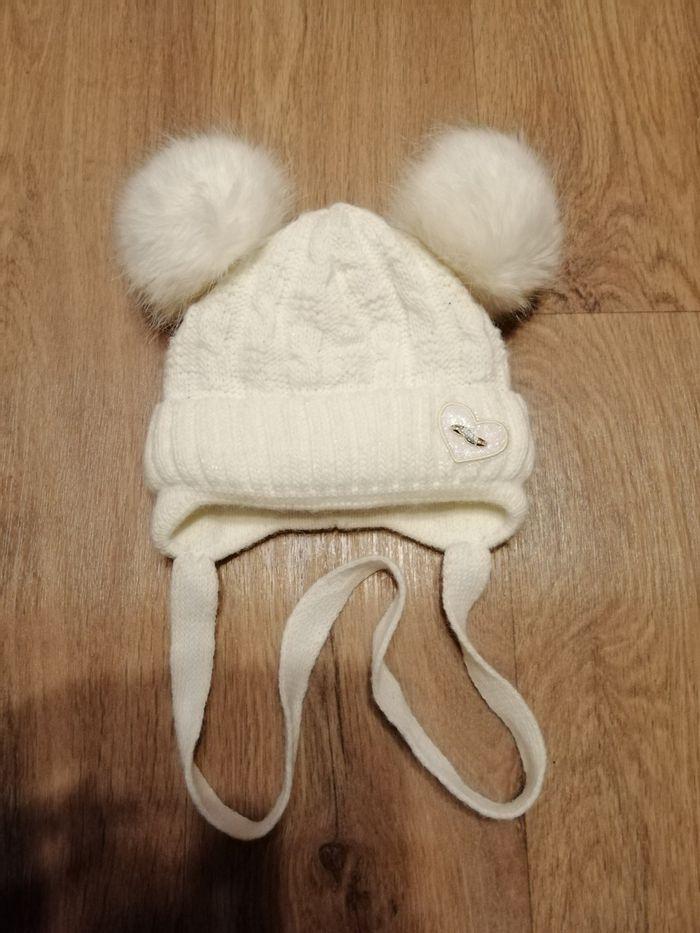 Зимняя шапочка на новорожденную девочку Кривий Ріг - зображення 1