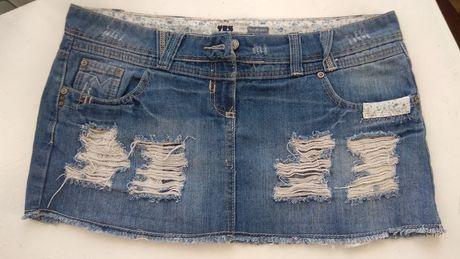Стильна жіноча джинс юбка