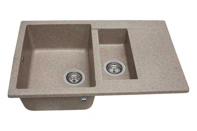 Кухонная мойка двойная Miraggio LaPas Terra искусственный камень