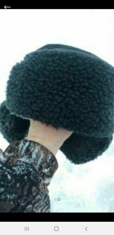 Зимняя шапка на цыгейке