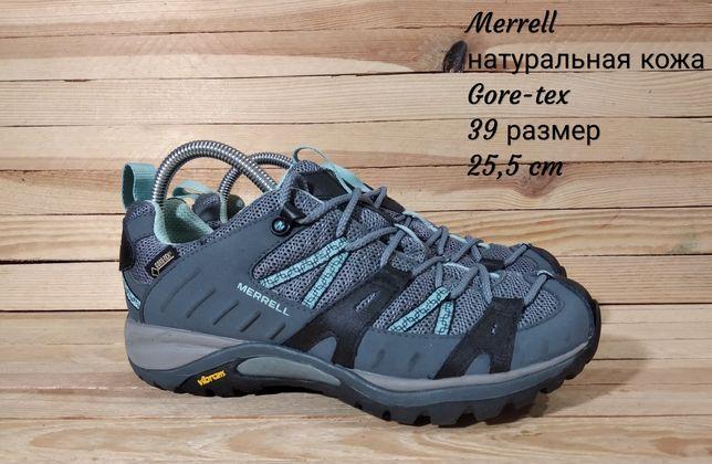 Merrell трекинговые ботинки кроссовки натуральная кожа ecco clarks