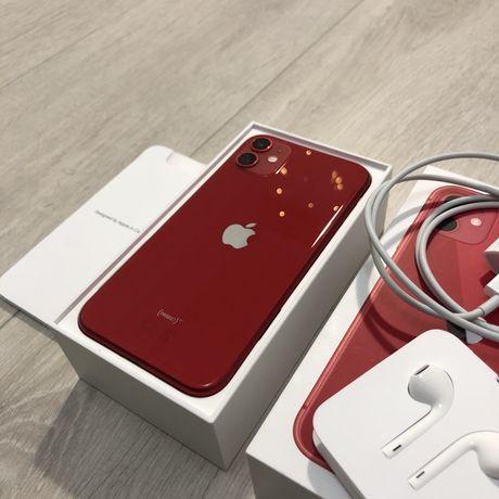 iPhone 11 Jak nowy_Na gwaracji_Piękny czerwony! Zamiana iPhone 12 mini