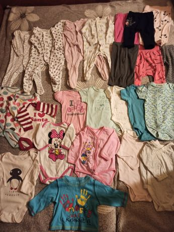 Большой пакет одежды для девочки 3-6 месяцев.Человечки, боди, штаны.