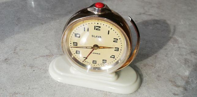 Часы будильник SLAVA Земной шар Ракета СССР 60-е