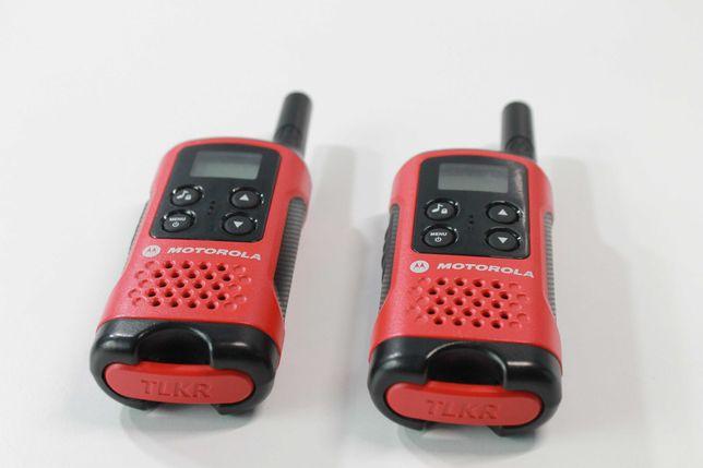 Motorola Czerwone Krótkofalówki 2 szt.