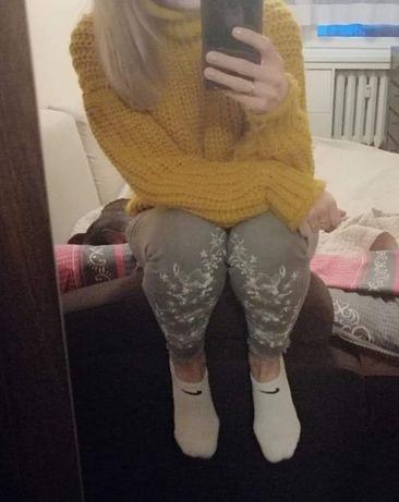 Sweter H&M gruby splot miodowy s/m