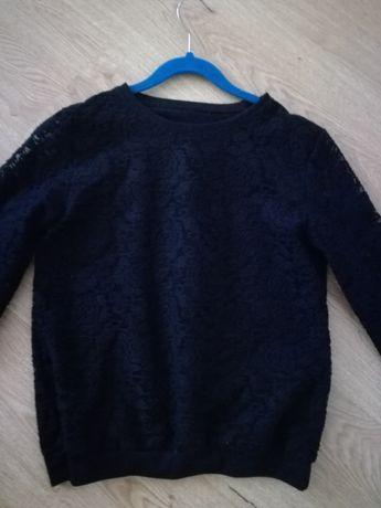 bluzka czarna z koronki