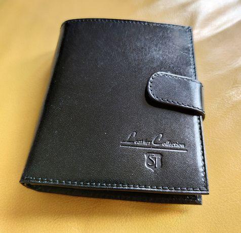Portfel skórzany Leather Collection. Nowy