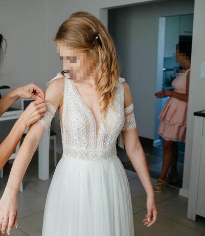 Sprzedam suknię ślubną boho Madonna