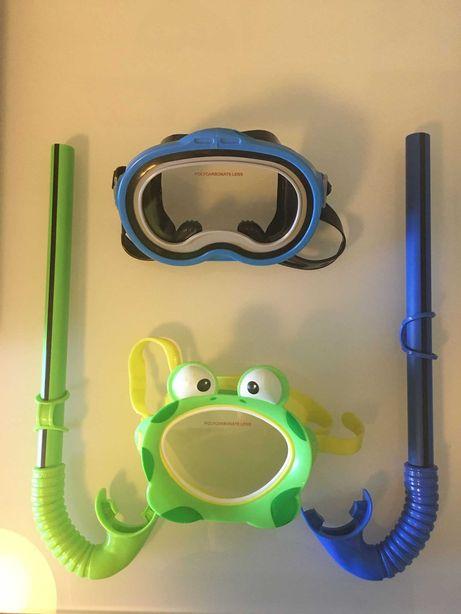 Óculos/ Mascara de Mergulho + Tubo Respiração para Criança