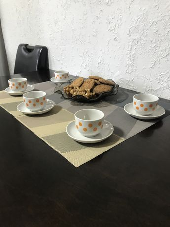 Чайный, кофейный сервиз, чашки, блюдечки