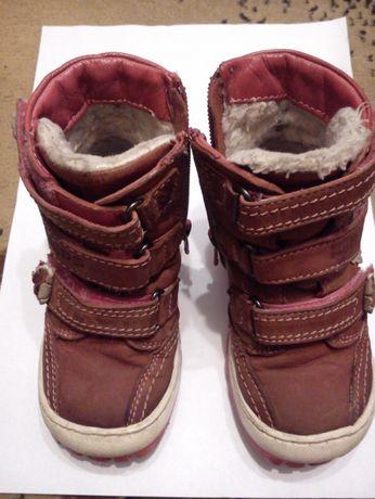 Zimowe, skórzane buty dla dziewczynki Lasocki Kids