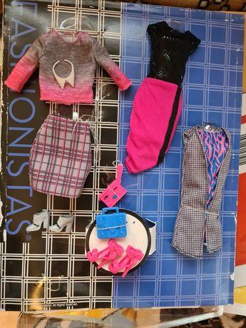 Набор одежда, обувь, сумочки ,украшения для куклы Барби модница