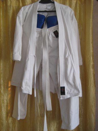 Кімоно для карате, куртка,штани,пояс,рукавиці, чешки