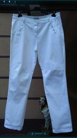 Spodnie damskie włoskie białe nowe 42,44,46