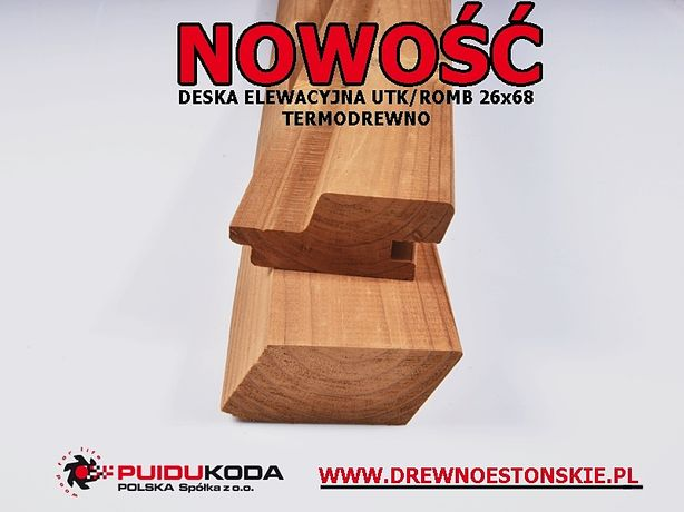 Deska elewacyjna UTK/ROMB 26x68 TERMOSOSNA elewacja/deski/termo/thermo