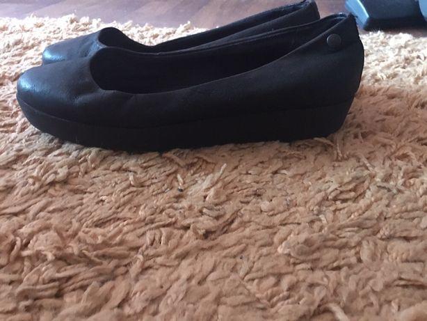Туфли на танкетке, балетки vagabond кожа
