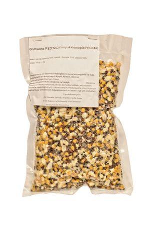 Zanęta z konopiami - mix (konopie+rzepak+pęczak+pszenica)