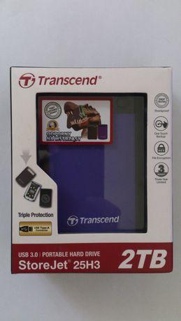 Внешний жёсткий диск Transcend StoreJet 25H3 2TB в отличном состоянии