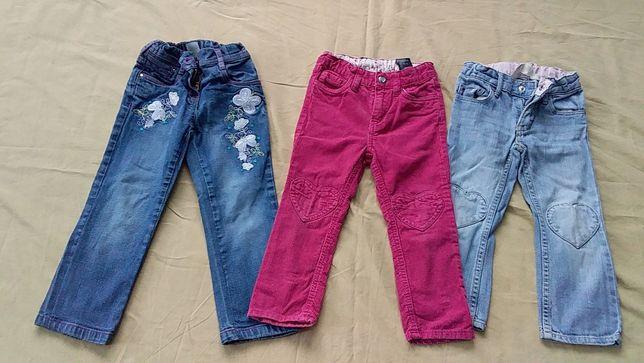 Брюки детские, джинсы для девочки- Palomino-104; H&M -92