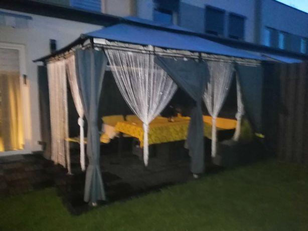 Namiot pawilon ogrodowy 3x4 stan idealny grafit TANIO KOMPLET