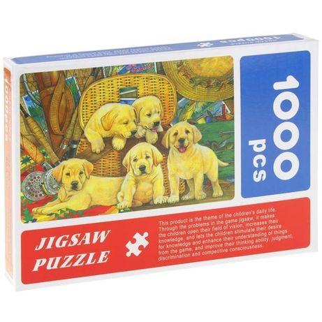 Puzzle 1000 el. Labradory Pieski Szczeniaki