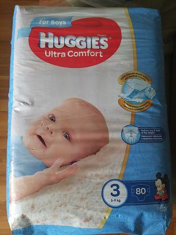 Подгузники Huggies ultra comfort 3(5-9кг) 80шт для мальчиков