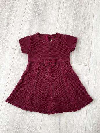 Красивое тепленькое платье,сукня размер 68 (3-6)