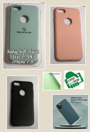 Capa Silky Soft Touch P/ iPhone 6 / 7 / 8 / 7 Plus / X / XS / XR / 11