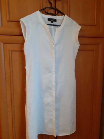 Sukienka lniana biała