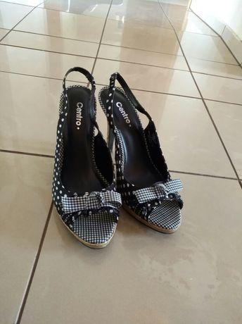 Buty na obcasie r. 38, czarne szpilki